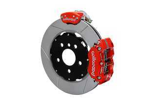 ES#3546968 - 140-15219-R - Wilwood Dynapro Radial4 / MC4 Rear Kit 12.19 Red - Featuring 4 piston calipers, 2 piece rotors, stainless brake lines, parking brake conversion, and performance brake pads - Wilwood - MINI
