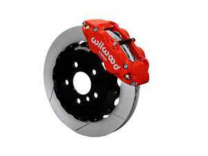 ES#3549194 - 140-15214-R - Wilwood Narrow Superlite 6R Front Hat Kit 12.88in Red  - Featuring 6 piston calipers, 2 piece rotors, stainless brake lines, and performance brake pads - Wilwood - MINI