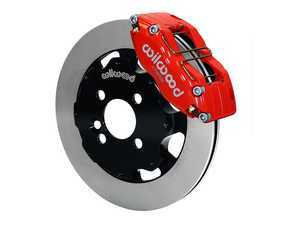 ES#3550873 - 140-8528-R - Wilwood Dynapro 4 Piston Radial Front Kit 12.19in Red - Featuring 4 piston calipers, 2 piece rotors, and performance brake pads - Wilwood - MINI