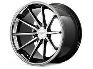 "ES#3550959 - fr4221055112maKT - 22"" FR4 Style Wheels - Set Of Four - 22""x10.5"" ET40 66.6CB 5x112 Machine Black / Chrome Lip - Ferrada Wheels - Audi"