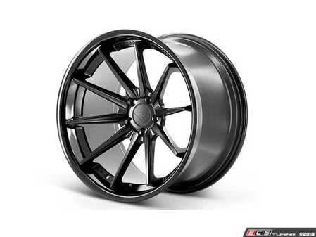 "ES#3550943 - fr42295112mbKT - 22"" FR4 Style Wheels - Set Of Four - 22""x9."" ET30 66.6CB 5x112 Matte Black / Gloss Black Lip - Ferrada Wheels - Audi"