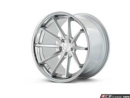"ES#3550963 - fr4221055112KT1 - 22"" FR4 Style Wheels - Staggered Set Of Four - 22x10.5"" et40 / 22""x9"" ET30 66.6CB 5x112 Machine Silver With Chrome Lip - Ferrada Wheels - Audi"