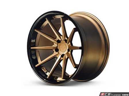 "ES#3550962 - fr42295112KT1 - 22"" FR4 Style Wheels - Staggered Set Of Four - 22x10.5"" et40 / 22""x9"" ET30 66.6CB 5x112 Matte Bronze with Gloss Black Lip - Ferrada Wheels - Audi"
