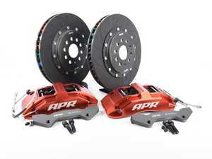 ES#3537655 - BRK00003 - Front Big Brake Kit (350x34) - Red - Red, 6-piston calipers with floating 2-piece rotors, and performance pads - APR - Audi Volkswagen