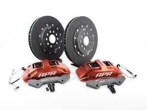 ES#3537657 - BRK00001 - Front Big Brake Kit (350x34) - Red  - Red, 6-piston calipers with floating 2-piece rotors, and performance pads - APR - Audi Volkswagen