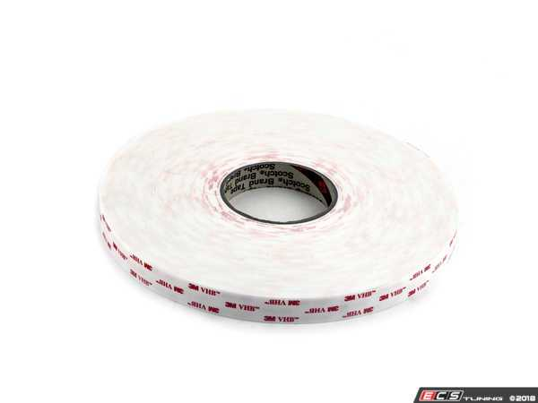"""ES#3419907 - 3M4945075 - 3M VHB 4945 White Tape - 1.1 Mm (45 Mil) - 3/4"""" X 36 Yds - High Bond - Mounting - Double-sided - Heavy Duty - 1296/roll Prices Per inch - 3M -"""