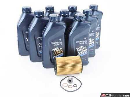 ES#2966609 - 83212365945KT3 - Inspection I/Oil Change Kit - Everything needed for an oil service including Genuine BMW M Twin Power Turbo oil - Assembled By ECS - BMW