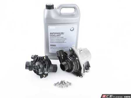 ES#3248062 - 11517586925KT11 - Water Pump And Thermostat Kit - Includes everything you need to replace your water pump and thermostat. Featuring high-quality, German-made water pump and thermostat. - Assembled By ECS - BMW