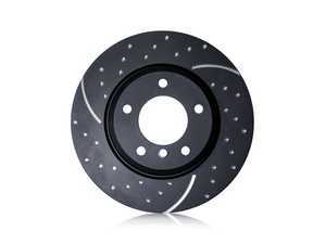 """ES#3988497 - GD2043 - Front Brake Rotors EBC EBC Slotted And Dimpled - Pair 12.08"""" (307x24) - Upgrade to a slotted / dimpled rotor for improved braking - EBC - MINI"""