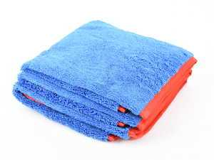 ES#3450637 - MIC9983 - Fluffer Miracle Supra Microfiber Towel, Blue (3 Pack) - Expanded 16 x 24 dimensions tackle any detailing task - Chemical Guys - Audi BMW Volkswagen Mercedes Benz MINI Porsche