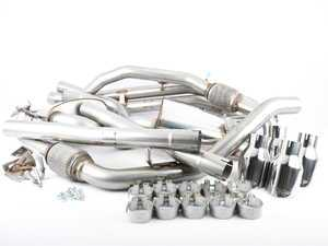 "ES#3466847 - SSXAU700 - Cat-Back Exhaust System - Non-Resonated (Louder) - 2.50"" stainless steel with quad GT-100 polished tips - Milltek Sport - Audi"