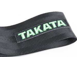 ES#3505118 - 78009-0 - Takata Tow Strap - Black - Easily replace your solid tow hook that sticks out obnoxiously from the stock location. - Takata - BMW Mercedes Benz MINI Porsche