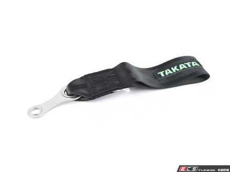 ES#3505118 - 78009-0 - Takata Universal Tow Strap - Black - Easily replace your solid tow hook that sticks out obnoxiously from the stock location. - Takata - Audi BMW Volkswagen Mercedes Benz MINI Porsche