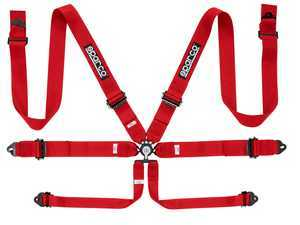 "ES#3552706 - 04818RALRS - 6-Point 3"" Harness - Red  - FIA approved harness to be used with Sparco Competition seats - Sparco - Audi BMW Volkswagen MINI Porsche"