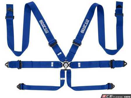 "ES#3552711 - 04818RALAZ - 6-Point 3"" Harness - Blue - FIA approved harness to be used with Sparco Competition seats - Sparco - Audi BMW Volkswagen MINI Porsche"