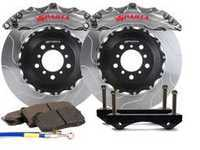 ES#3543677 - SPS.V5.5103.AMS - Front Big Brake Kit - 355x32x62  - Featuring 2-piece rotors and 4 Piston-A anodized calipers - Machine Silver - Sparta Evolution - Audi Volkswagen