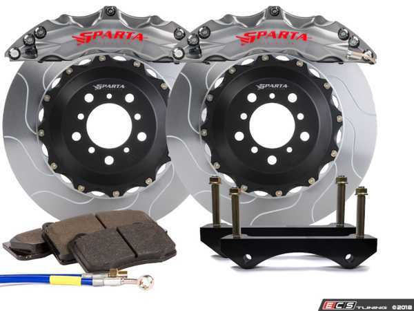 ES#3543999 - SPT.V5.5118.PSG - Triton Front Big Brake Kit (380x34) - Stealth Grey Powder Coat - Featuring Triton 6-Piston forged and powder coated calipers, with high quality 2-Piece Pegasus rotors for optimal braking, on and off of the track! - Sparta Evolution - Audi