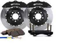 ES#3543683 - SPS.V5.5103.PBL - Front Big Brake Kit - 355x32x62  - Featuring 2-piece rotors and 4 Piston-A powder coated calipers - Black - Sparta Evolution - Audi Volkswagen