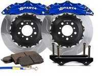 ES#3543679 - SPS.V5.5103.ASB - Front Big Brake Kit - 355x32x62  - Featuring 2-piece rotors and 4 Piston-A anodized calipers - Signature Blue - Sparta Evolution - Audi Volkswagen