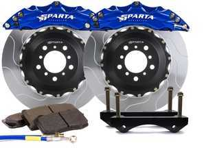 ES#3543687 - SPS.V5.5103.PSB - Front Big Brake Kit - 355x32x62  - Featuring 2-piece rotors and 4 Piston-A powder coated calipers - Signature Blue - Sparta Evolution - Audi Volkswagen