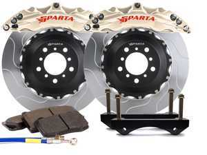 ES#3544004 - SPT.V5.5119.NIA - Triton Front Big Brake Kit (355x32) - Nickel Alloy - Featuring Triton 6-Piston forged and nickel plated calipers, with high quality 2-Piece Pegasus rotors for optimal braking, on and off of the track! - Sparta Evolution - Audi