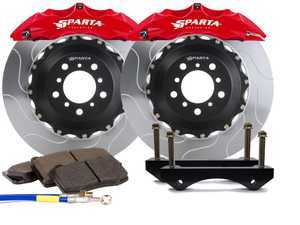 ES#3543749 - SPS.V5.5110.PRD - Front Big Brake Kit - 355x32x52  - Featuring 2-piece rotors and 6 Piston-A powder coated calipers - Red - Sparta Evolution - Volkswagen