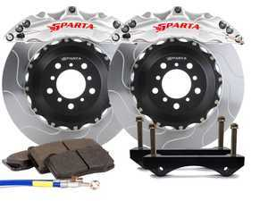 ES#3544001 - SPT.V5.5119.AMS - Triton Front Big Brake Kit (355x32) - Machine Silver - Featuring Triton 6-Piston forged and anodized calipers, with high quality 2-Piece Pegasus rotors for optimal braking, on and off of the track! - Sparta Evolution - Audi