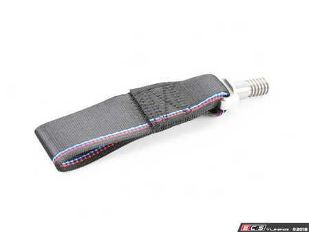 ES#3552722 - TMI9020TSI - TRI - Turner Motorsport Poly Tow Strap With Bolt - Tri-color Stripe - No more steel ring sticking out from the bumper - Turner Motorsport - BMW MINI