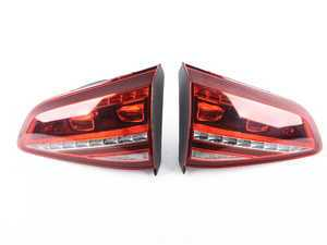 ES#3552816 - G7TLECWRSETSD -  European LED Tail Light Set - Dark Cherry - *Scratch And Dent* - Set of LED tail light assemblies styled after the European MK7 GTI LED assemblies - Helix - Volkswagen