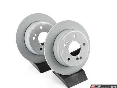 ES#2738433 - 202423001264KT -  Rear Brake Rotors - Pair - Includes left and right rear brake rotors - Genuine Mercedes Benz - Mercedes Benz