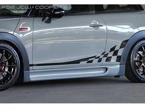 ES#3552954 - GAR-F55-004 - Garbino Side Skirts  - Aggressive FRP full side skirt aero kit that has a MINI Challenge OEM type look - Garbino - MINI