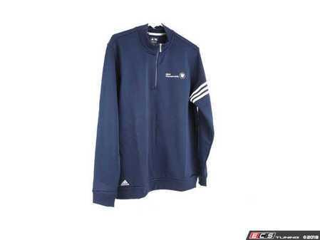 ES#2634250 - 80902349484 - Navy Blue Adidas Climalite 3-Stripe Pullover - Large - A stylish way to stay warm & dry - Genuine BMW - BMW