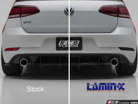 ES#3550932 - 026097ECS01 - Rear Bumper Reflector Film Set - Gunsmoke  - Pre-cut Lamin-X film to cover both red reflectors on the rear bumper cover - ECS - Volkswagen