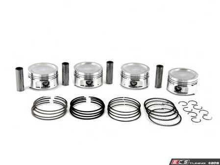 ES#2794540 - WIS-PVA1 - Wiseco Performance Stroker Piston Set  - Includes rings, wire locks, and wrist pins - 83mm bore, 9.0:1 CR, 92.8mm Stroke - Wiseco - Audi Volkswagen