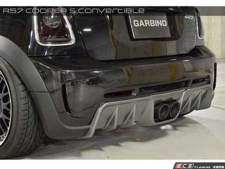 ES#3553089 - GAR-R56-002 - Garbino Rear Bumper & Diffuser Type X - Aggressive FRP rear aero diffuser kit that has a MINI Challenge OEM type look: Full bumper - Garbino - MINI