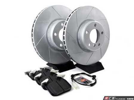 ES#3553009 - 010761ECSKT1 - Performance Front Brake Service Kit - (340x30) - Featuring ECS GEOMET Slotted rotors and Hawk HPS 5.0 pads - Assembled By ECS - BMW