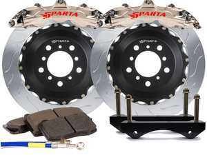 ES#3543596 - SPR.V5.5119.NIA - Triton R Front Big Brake Kit (355x32) - Nickel Alloy - Featuring lightweight Triton R 6-Piston forged and nickel plated calipers, with high quality 2-Piece Pegasus rotors for optimal braking, on and off of the track! - Sparta Evolution - Audi