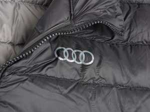 ES#3183040 - ACM2898BLKLG - TUMI Patrol Packable Travel Puffer Jacket - Large - Audi rings heatsealed on left chest. Slim Fit. - Genuine Volkswagen Audi - Audi