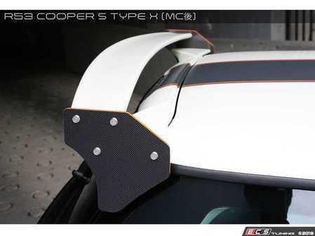 ES#3553160 - GAR-R53-005 - Garbino Rear Wing Type X - Lower / Carbon Fiber Upper + Endplate - Aggressive Rear Wing kit that has a JCW MINI Challenge type look - Garbino - MINI
