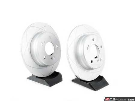 ES#2587139 - 2034230112KT3 - Rear Brake Rotors - Pair - ATE Premium One Gas Slotted Rotors - Does Not Include New Rotor Hold Down Screws - ATE Premium One - Mercedes Benz