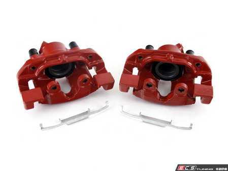 ES#3477640 - s1618KT - Red Powder Coated Calipers - Front Set - Powder coated red calipers for both style and corrosion prevention! Includes left and right side calipers and carriers! - Power Stop - BMW