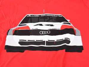 ES#3232555 - ACM3010REDMD - 200 Trans Am T-Shirt - Meduim - Audi Trans Am design on front of tee in white, black, and red, with Audi four rings logo on left sleeve in white. Slim Fit. - Genuine Volkswagen Audi - Audi BMW Volkswagen Mercedes Benz MINI Porsche