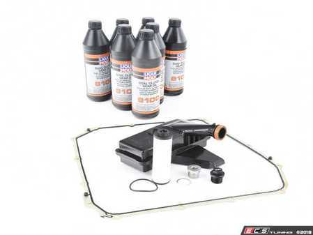 ES#3551610 - 0B5325330AKT3 - Complete DSG Automatic Transmission Service Kit  - Includes a new DSG trans filter, DSG cooling filter, fluid, gaskets, transmission pan bolts, and plugs to service your transmission - Assembled By ECS - Audi