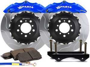 ES#3543807 - SPS.V5.5119.ASB - Saturn Front Big Brake Kit (355x32) - Blue Anodize - Featuring Saturn 6-Piston forged calipers, and high quality 2-Piece Pegasus rotors for optimal braking, on and off of the track! - Sparta Evolution - Audi