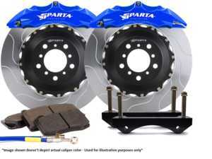 ES#3543811 - SPS.V5.5119.PBL - Saturn Front Big Brake Kit (355x32) - Black Powder Coat - Featuring Saturn 6-Piston forged calipers, and high quality 2-Piece Pegasus rotors for optimal braking, on and off of the track! - Sparta Evolution - Audi
