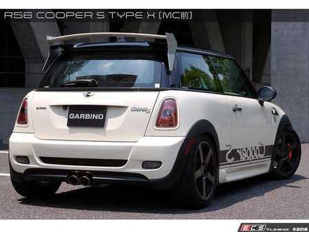 ES#3553467 - GAR-R56-011 - Garbino Rear Bumper Type X - FRP - Aggressive FRP rear bumper kit that has a MINI AERO Gen 1 OEM type look - Garbino - MINI