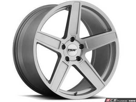 """ES#3555024 - 1780asc325112KT - 17"""" Ascent Wheels - Set Of Four - 17""""x8.0"""", ET32, 5x112 - Matte Titanium Silver Finish - TSW Alloy Wheels - Audi Mercedes Benz MINI"""