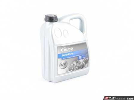 ES#3524472 - V60-0056 - Synthetic Engine Oil (0w-40) - 5 Liter - Meets Volkswagen & Audi 502.00 / 505.00, BMW LL-01, MB 229.5, and Porsche A40 specifications - Vaico - Audi Volkswagen Mercedes Benz