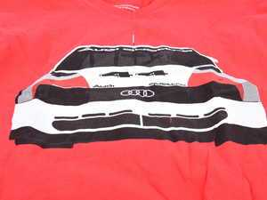 ES#3232552 - ACM3010RED2X - 200 Trans Am T-Shirt - 2X-Large - Audi Trans Am design on front of tee in white, black, and red, with Audi four rings logo on left sleeve in white. Slim Fit. - Genuine Volkswagen Audi - Audi BMW Volkswagen Mercedes Benz MINI Porsche