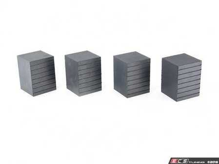 "ES#3509589 - 5300862 - Tall Rubber Contact Block - Set of Four - 3"" tall rubber block used to increase jack point accessibility - QuickJack - Audi BMW Volkswagen Mercedes Benz MINI Porsche"